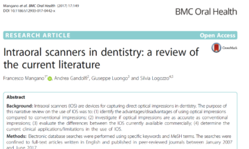 Intraoral scanners in dentistry: a review of the current literature